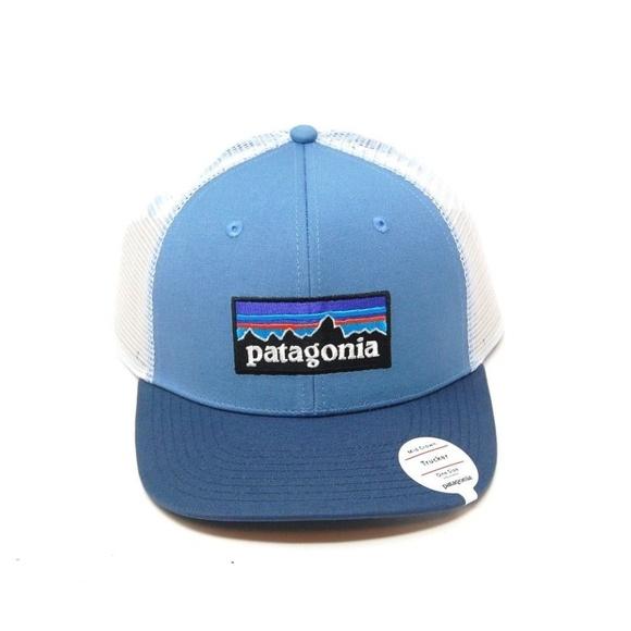 9e1f923c1f6 Patagonia Logo Trucker Hat New Railroad Blue